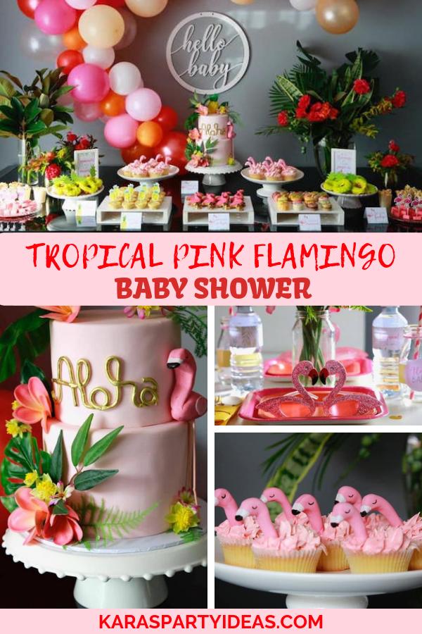 Tropical Pink Flamingo Baby Shower via Kara's Party Ideas - KarasPartyIdeas.com