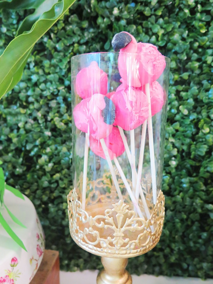 Tropical Pink Flamingo Birthday Party on Kara's Party Ideas | KarasPartyIdeas.com (6)