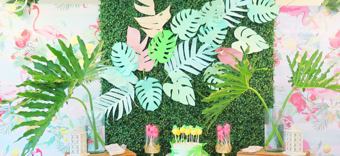 Tropical Pink Flamingo Birthday Party on Kara's Party Ideas | KarasPartyIdeas.com (2)