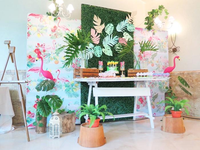 Tropical Pink Flamingo Birthday Party on Kara's Party Ideas | KarasPartyIdeas.com (18)