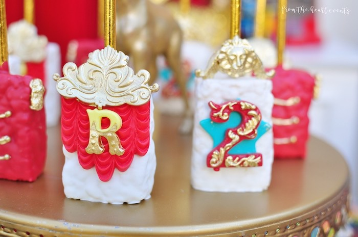Circus Themed Rice Krispie Treats from a Vintage Circus Birthday Party on Kara's Party Ideas | KarasPartyIdeas.com (10)