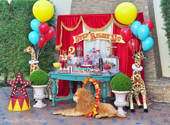 Vintage Circus Birthday Party on Kara's Party Ideas | KarasPartyIdeas.com (23)