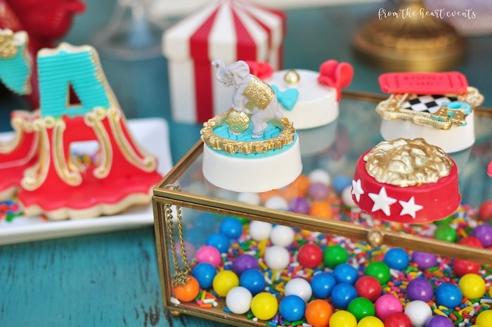 Circus Themed Chocolate Covered Oreos from a Vintage Circus Birthday Party on Kara's Party Ideas | KarasPartyIdeas.com (16)