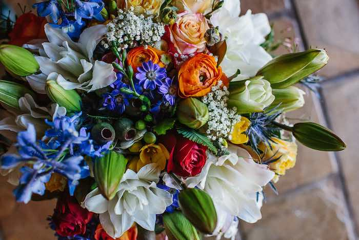 Bridal Bouquet from a Whimsical Festival Inspired Wedding on Kara's Party Ideas | KarasPartyIdeas.com (13)