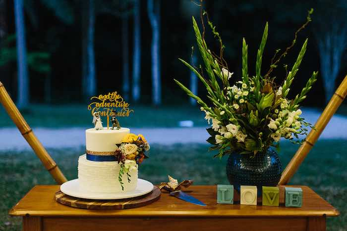 Cake Table from a Whimsical Festival Inspired Wedding on Kara's Party Ideas | KarasPartyIdeas.com (8)