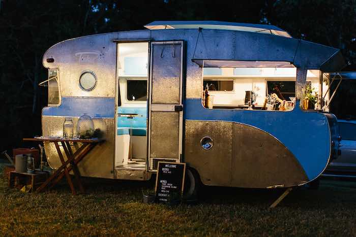 Vintage Camper from a Whimsical Festival Inspired Wedding on Kara's Party Ideas | KarasPartyIdeas.com (6)