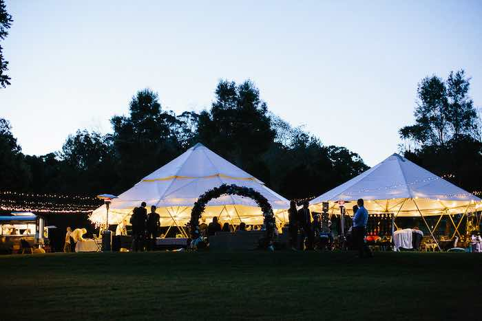 Tented Reception Venue from a Whimsical Festival Inspired Wedding on Kara's Party Ideas | KarasPartyIdeas.com (3)