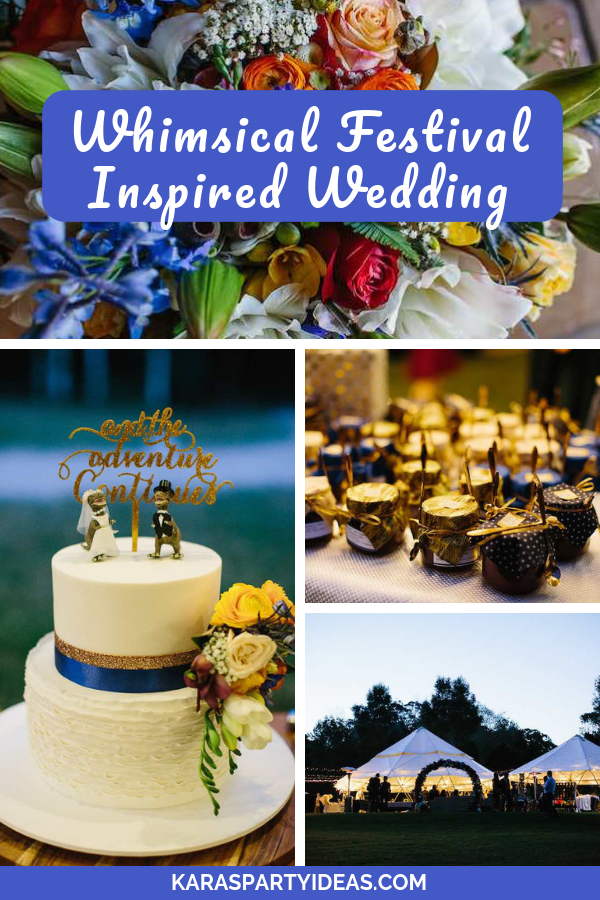 Whimsical Festival Inspired Wedding via Kara's Party Ideas - KarasPartyIdeas.com