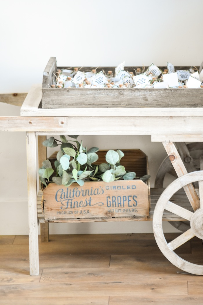 Seed Cart Garden Rustic Earth Right After Rain Farmhouse Boy Baptism Party Luncheon LDS by Kara's Party Ideas KarasPartyIdeas.com 31