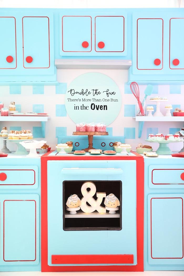 Kara S Party Ideas Bakery Baby Shower For Twins Kara S Party Ideas