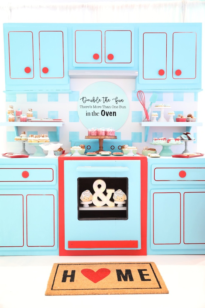 bun in the oven baby shower bakery birthday party via kara's party ideas karaspartyideas.com
