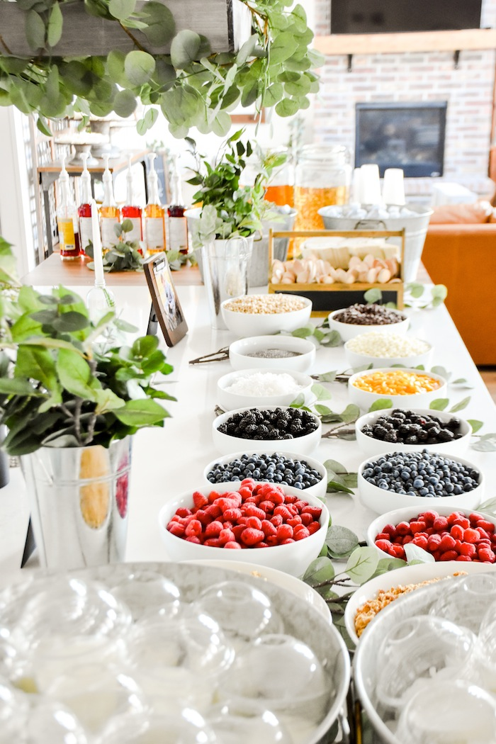 Garden Rustic Earth Yogurt Bar Boy Baptism Party Luncheon LDS by Kara's Party Ideas KarasPartyIdeas.com 10f