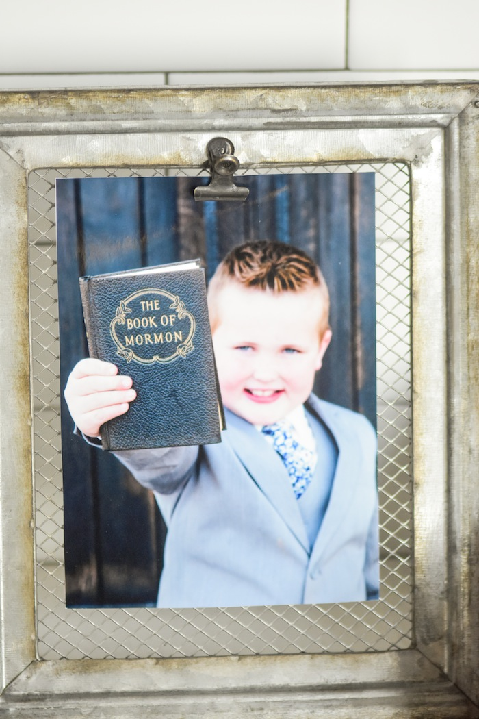 Babptism Vintage Book of Mormon Garden Rustic Earth Right After Rain Farmhouse Boy Baptism Party Luncheon LDS by Kara's Party Ideas KarasPartyIdeas.com 10