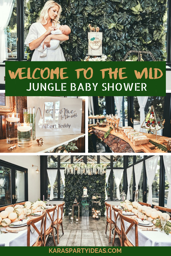 """Welcome to the Wild"" Jungle Baby Shower via KarasPartyIdeas - KarasPartyIdeas.com"