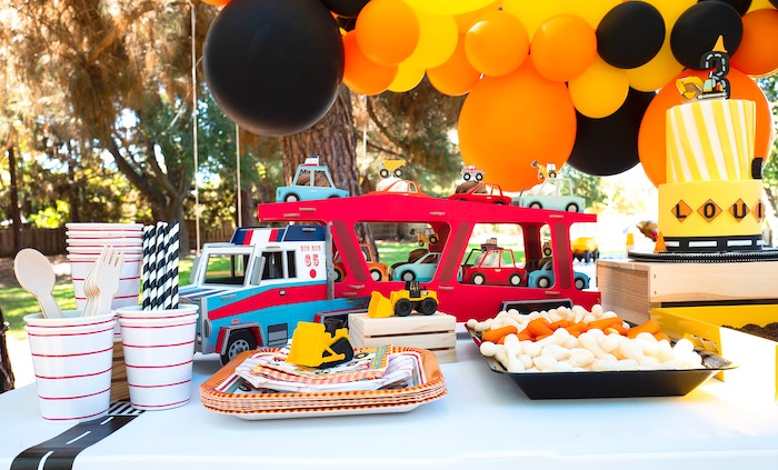 Construction Party Dessert Table on Kara's Party Ideas | KarasPartyIdeas.com
