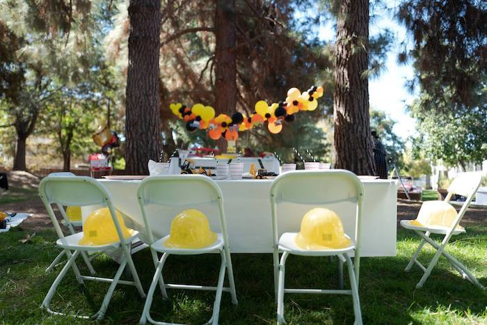 Construction Party Set Up on Kara's Party Ideas | KarasPartyIdeas.com