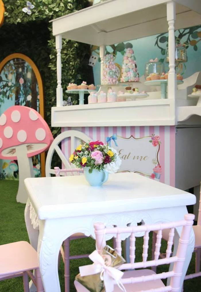 Little Tea Table from an Alice in Wonderland Tea Party on Kara's Party Ideas | KarasPartyIdeas.com (11)