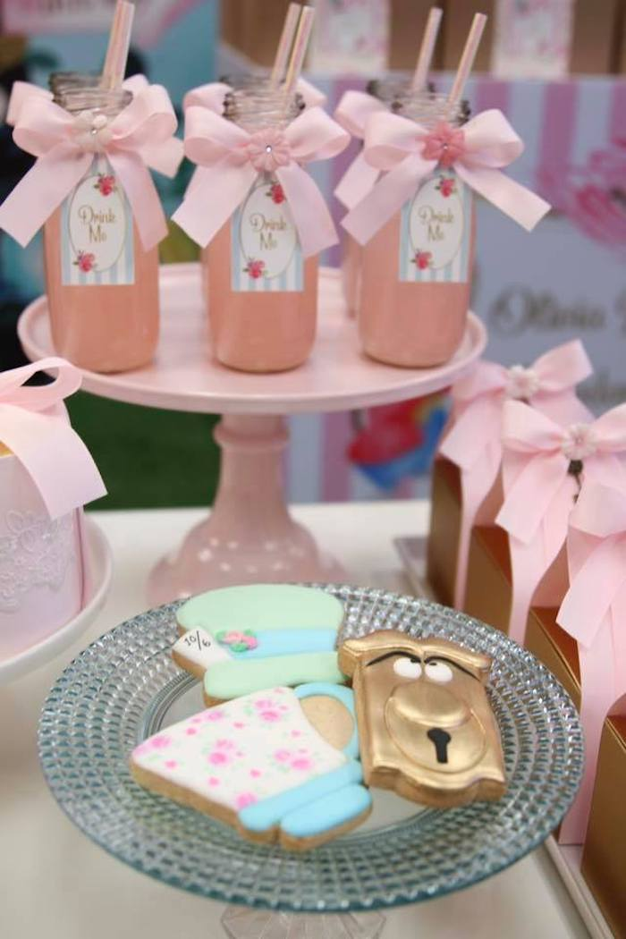 Alice in Wonderland-inspired Cookies + Drinks from an Alice in Wonderland Tea Party on Kara's Party Ideas | KarasPartyIdeas.com (10)