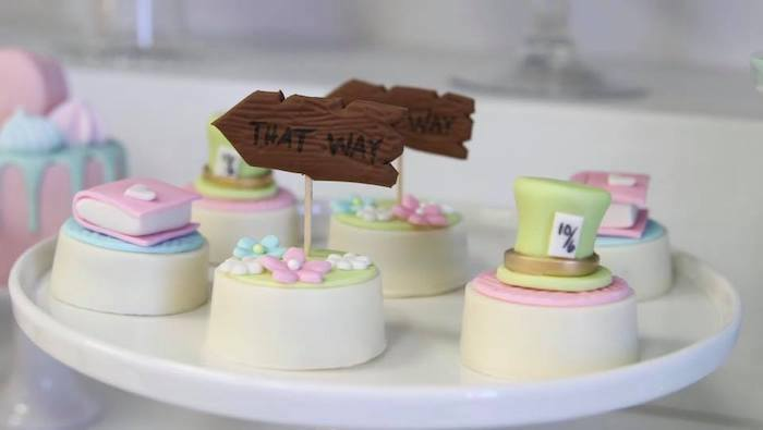 Alice in Wonderland Oreos from an Alice in Wonderland Tea Party on Kara's Party Ideas | KarasPartyIdeas.com (17)