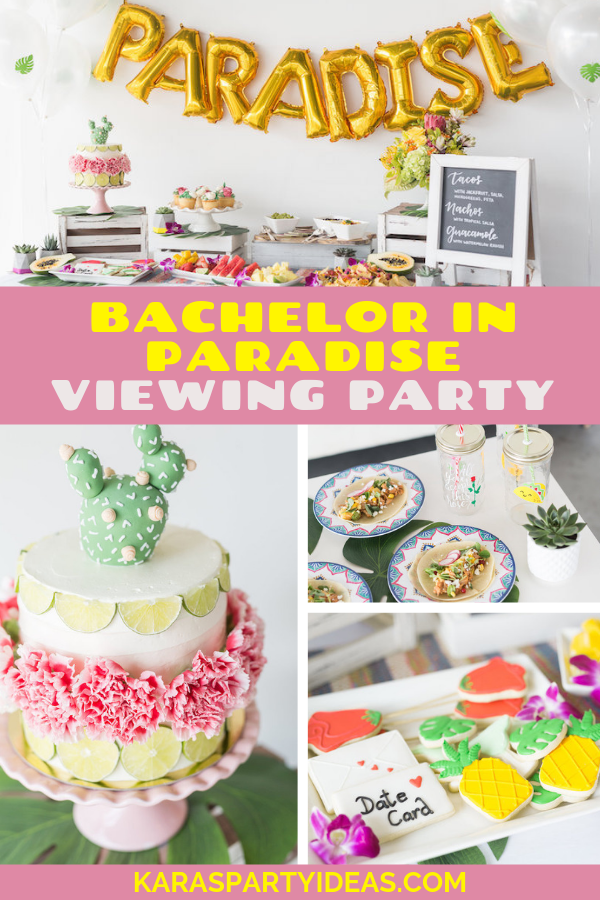 Bachelor In Paradise Viewing Party via Kara's Party Ideas - KarasPartyIdeas.com