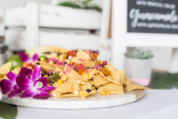 Chip Plate from a Bachelor in Paradise Viewing Party on Kara's Party Ideas | KarasPartyIdeas.com (24)