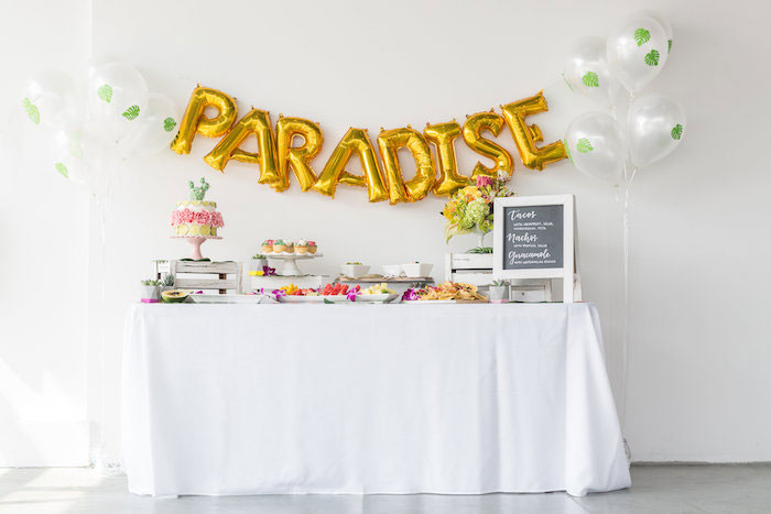 Paradise Party Table from a Bachelor in Paradise Viewing Party on Kara's Party Ideas | KarasPartyIdeas.com (14)