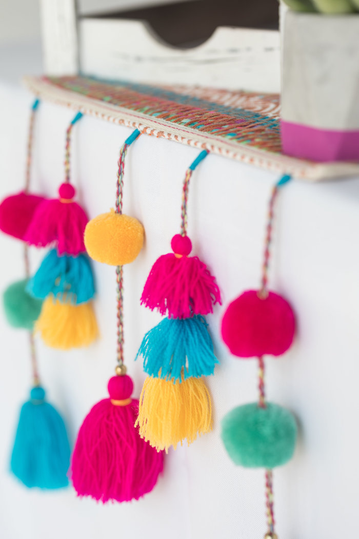 Fringe + Pom Tassels from a Bachelor in Paradise Viewing Party on Kara's Party Ideas | KarasPartyIdeas.com (13)