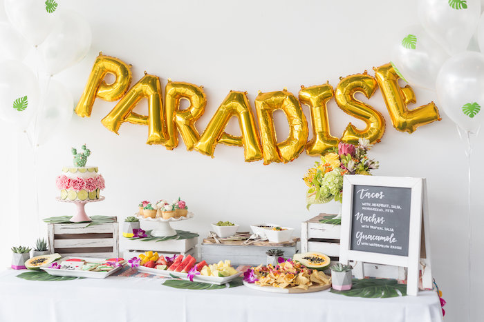 Paradise Party Table from a Bachelor in Paradise Viewing Party on Kara's Party Ideas | KarasPartyIdeas.com (12)