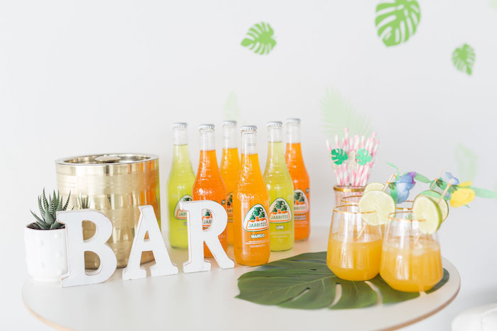 Tropical Drink Bar from a Bachelor in Paradise Viewing Party on Kara's Party Ideas | KarasPartyIdeas.com (10)