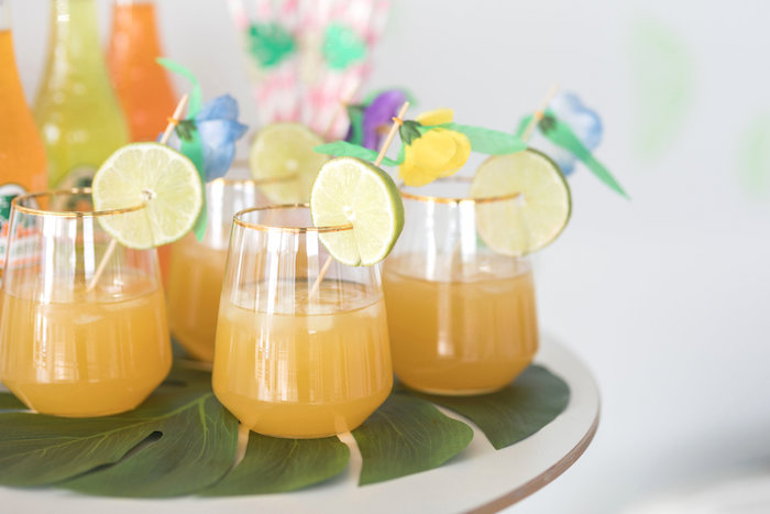 Drinks with Lime Garnishes from a Bachelor in Paradise Viewing Party on Kara's Party Ideas | KarasPartyIdeas.com (9)