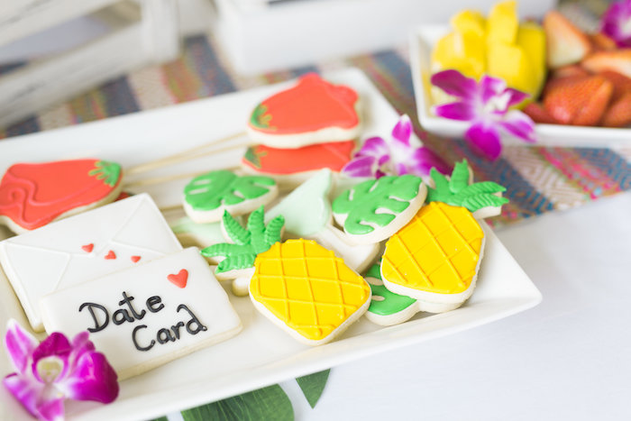 Tropical Cookies from a Bachelor in Paradise Viewing Party on Kara's Party Ideas | KarasPartyIdeas.com (8)