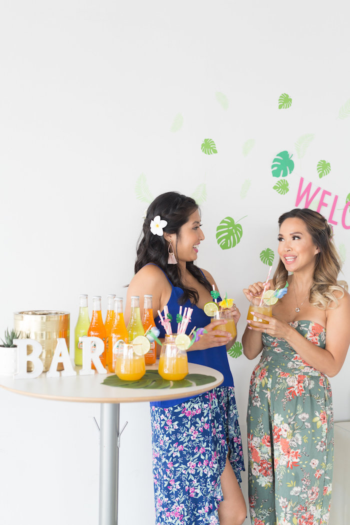 Tropical Drink Bar from a Bachelor in Paradise Viewing Party on Kara's Party Ideas | KarasPartyIdeas.com (7)