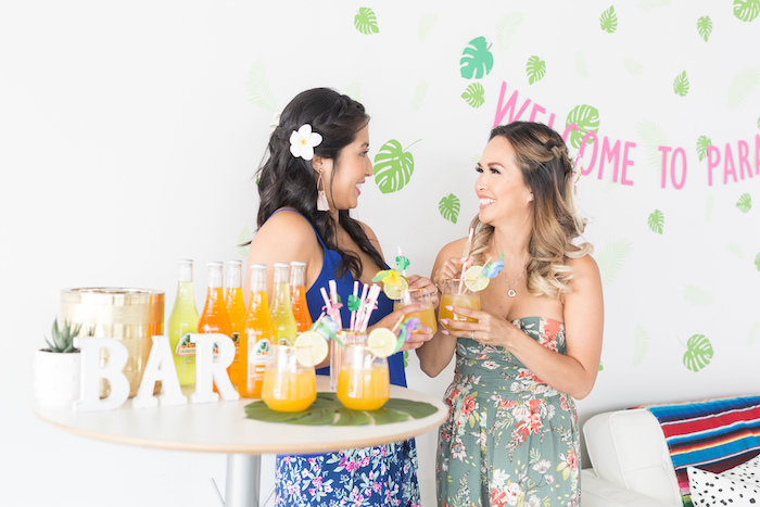 Tropical Drink Bar from a Bachelor in Paradise Viewing Party on Kara's Party Ideas | KarasPartyIdeas.com (6)
