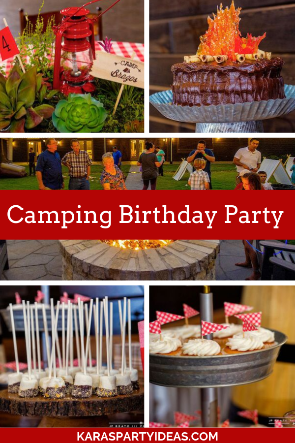 Camping Birthday Party via Kara's Party Ideas - KarasPartyIdeas.com