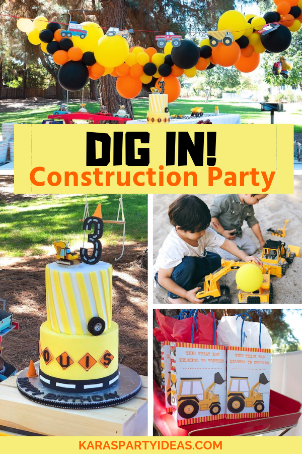 Dig In! Construction Party via Kara's Party Ideas - KarasPartyIdeas.com