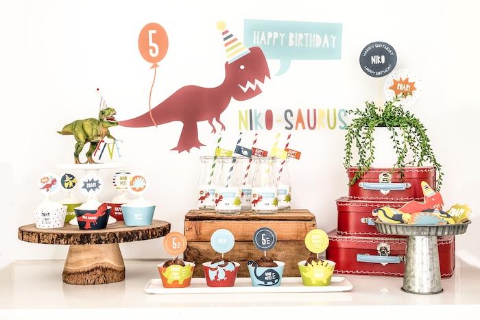 Dino-mite Birthday Party on Kara's Party Ideas | KarasPartyIdeas.com (39)