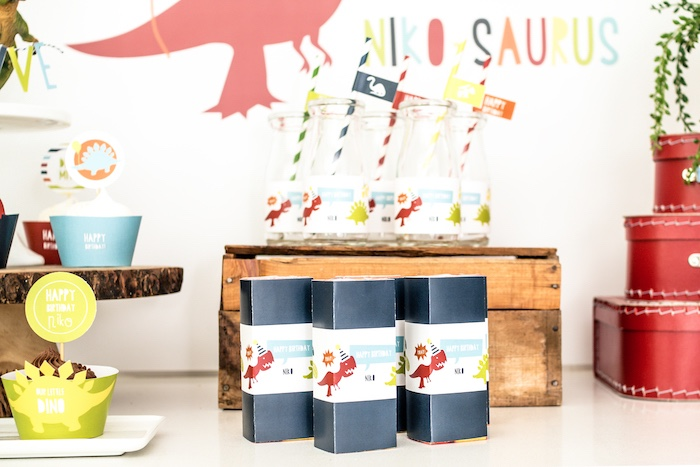 Dino Juice Boxes from a Dino-mite Birthday Party on Kara's Party Ideas | KarasPartyIdeas.com (11)