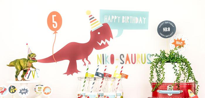 Dino-mite Birthday Party on Kara's Party Ideas | KarasPartyIdeas.com (6)