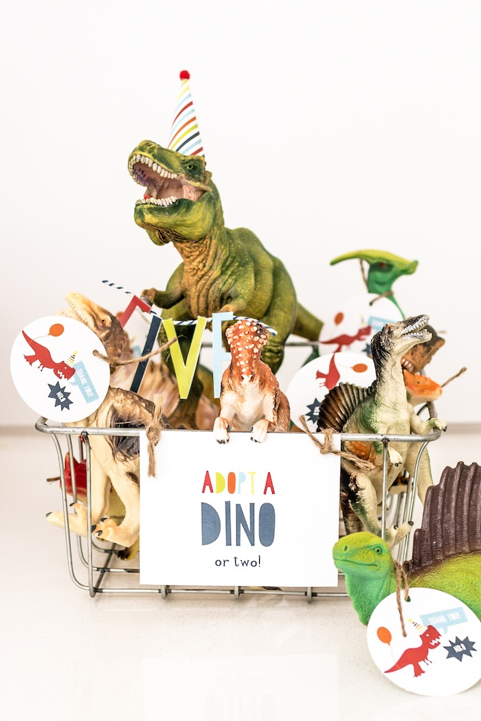Toy Dinosaur Party Favors with Custom Tags from a Dino-mite Birthday Party on Kara's Party Ideas | KarasPartyIdeas.com (33)
