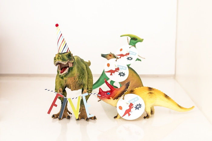Toy Dinosaur Party Favors with Custom Tags from a Dino-mite Birthday Party on Kara's Party Ideas | KarasPartyIdeas.com (32)