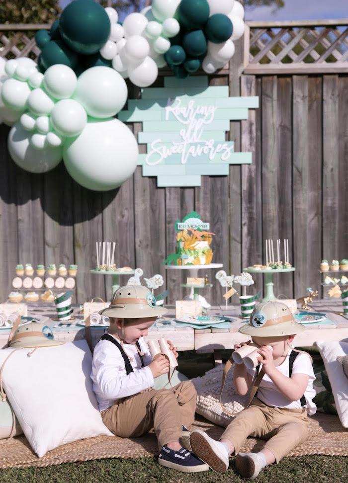 Dinosaur Explorer Birthday Party on Kara's Party Ideas | KarasPartyIdeas.com (6)