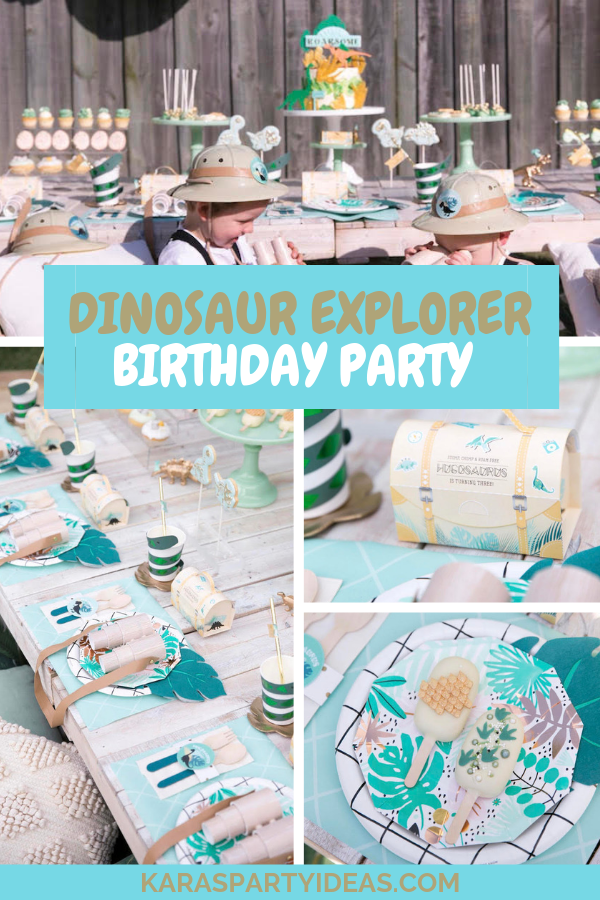 Dinosaur Explorer Birthday Party via Kara's Party Ideas - KarasPartyIdeas.com