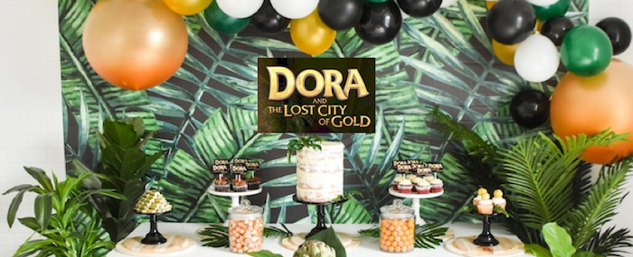 Dora and the Lost City of Gold Explorer Birthday Party by Kara's Party Ideas KarasPartyIdeas.com-1 copy