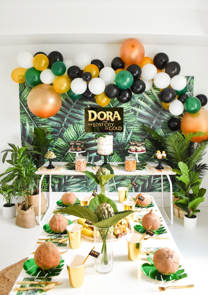 Dora and the Lost City of Gold Explorer Birthday Party by Kara's Party Ideas KarasPartyIdeas.com-1
