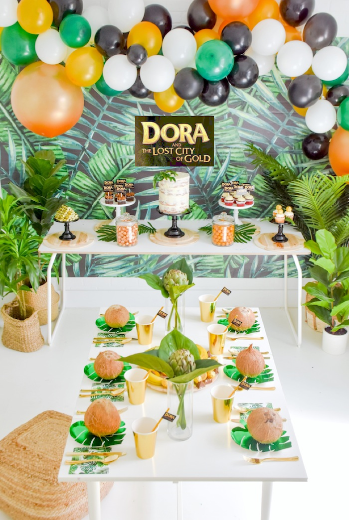 Dora and the Lost City of Gold Explorer Birthday Party by Kara's Party Ideas KarasPartyIdeas.com-8