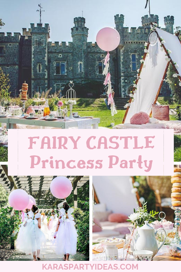 Fairy Castle Princess Party via KarasPartyIdeas - KarasPartyIdeas.com