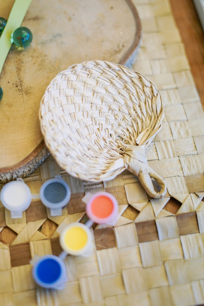Raffia Fan from a Filipiniana Inspired Birthday Party on Kara's Party Ideas | KarasPartyIdeas.com (14)