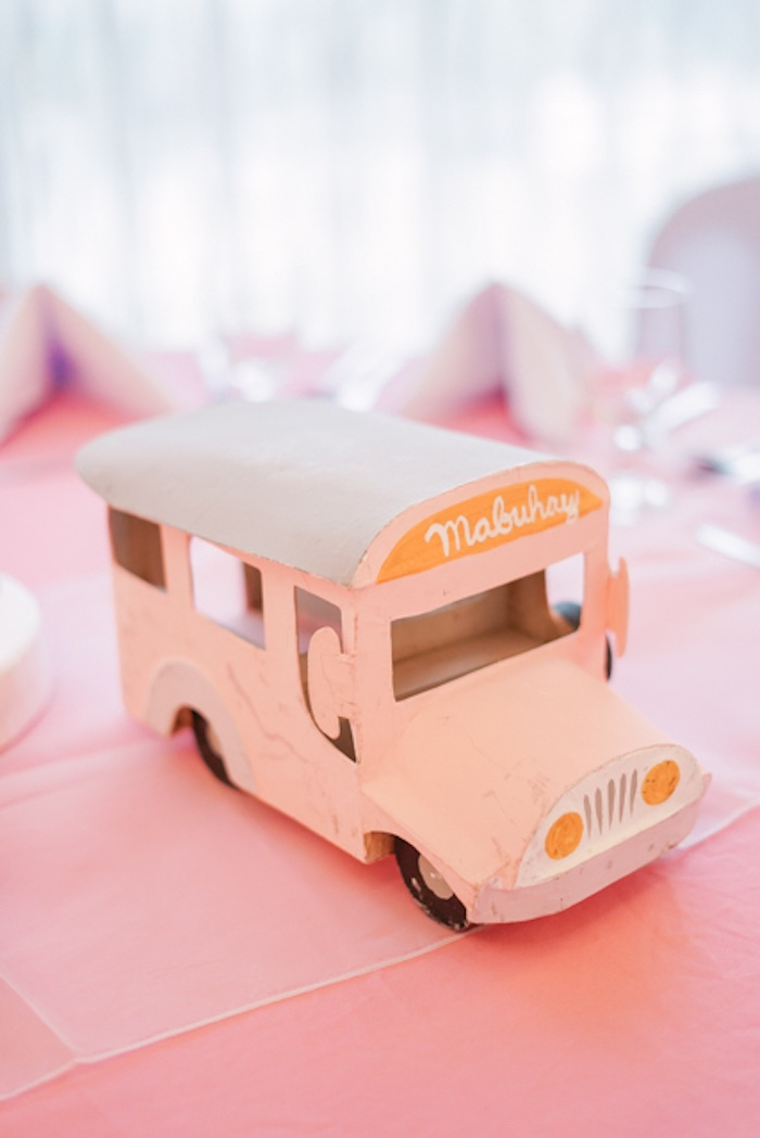 Jeepney Centerpiece from a Filipiniana Inspired Birthday Party on Kara's Party Ideas | KarasPartyIdeas.com (13)