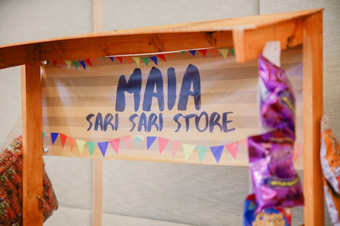 Custom Sari Sari Store Banner from a Filipiniana Inspired Birthday Party on Kara's Party Ideas | KarasPartyIdeas.com (6)