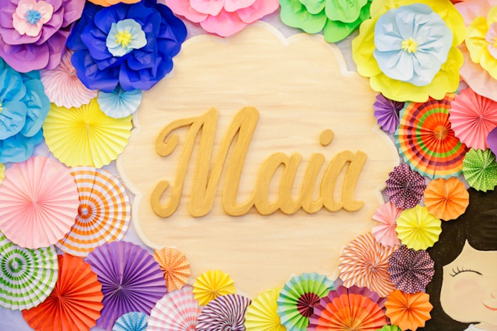 Paper Flower Name Sign + Backdrop on Kara's Party Ideas | KarasPartyIdeas.com (27)